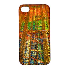 Circuit Board Pattern Apple iPhone 4/4S Hardshell Case with Stand