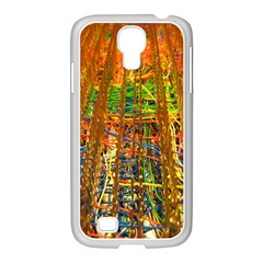 Circuit Board Pattern Samsung GALAXY S4 I9500/ I9505 Case (White)
