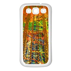 Circuit Board Pattern Samsung Galaxy S3 Back Case (White)