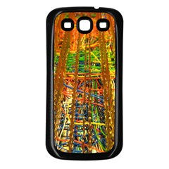 Circuit Board Pattern Samsung Galaxy S3 Back Case (Black)