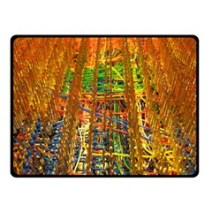 Circuit Board Pattern Double Sided Fleece Blanket (Small)