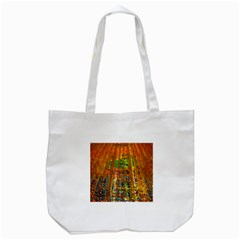 Circuit Board Pattern Tote Bag (White)