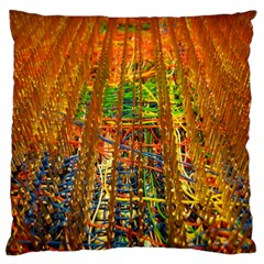 Circuit Board Pattern Large Flano Cushion Case (two Sides)