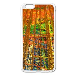 Circuit Board Pattern Apple iPhone 6 Plus/6S Plus Enamel White Case