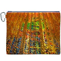 Circuit Board Pattern Canvas Cosmetic Bag (XXXL)