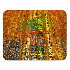 Circuit Board Pattern Double Sided Flano Blanket (Large)