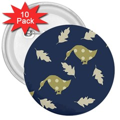 Duck Tech Repeat 3  Buttons (10 Pack)