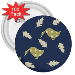 Duck Tech Repeat 3  Buttons (100 pack)