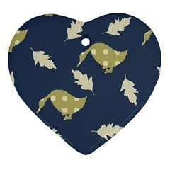 Duck Tech Repeat Heart Ornament (two Sides)