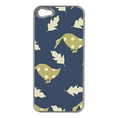 Duck Tech Repeat Apple iPhone 5 Case (Silver)