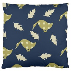 Duck Tech Repeat Large Flano Cushion Case (Two Sides)