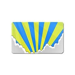 Sunlight Clouds Blue Sky Yellow White Magnet (Name Card)