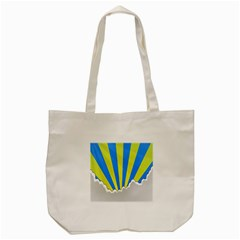 Sunlight Clouds Blue Sky Yellow White Tote Bag (cream)