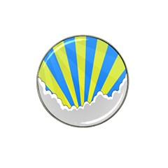 Sunlight Clouds Blue Sky Yellow White Hat Clip Ball Marker