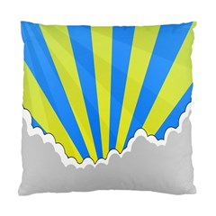 Sunlight Clouds Blue Sky Yellow White Standard Cushion Case (Two Sides)