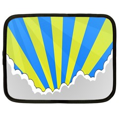 Sunlight Clouds Blue Sky Yellow White Netbook Case (XXL)