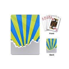 Sunlight Clouds Blue Sky Yellow White Playing Cards (Mini)