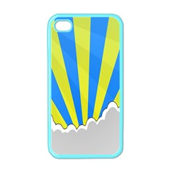 Sunlight Clouds Blue Sky Yellow White Apple iPhone 4 Case (Color)