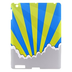 Sunlight Clouds Blue Sky Yellow White Apple iPad 3/4 Hardshell Case