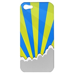 Sunlight Clouds Blue Sky Yellow White Apple iPhone 5 Hardshell Case