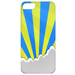 Sunlight Clouds Blue Sky Yellow White Apple iPhone 5 Classic Hardshell Case