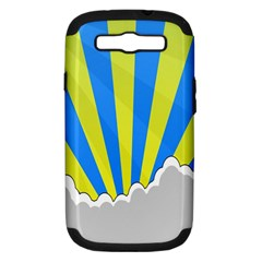 Sunlight Clouds Blue Sky Yellow White Samsung Galaxy S III Hardshell Case (PC+Silicone)
