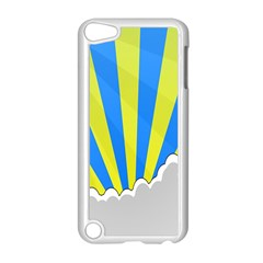 Sunlight Clouds Blue Sky Yellow White Apple Ipod Touch 5 Case (white)