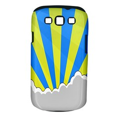 Sunlight Clouds Blue Sky Yellow White Samsung Galaxy S III Classic Hardshell Case (PC+Silicone)