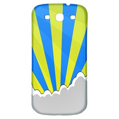 Sunlight Clouds Blue Sky Yellow White Samsung Galaxy S3 S III Classic Hardshell Back Case