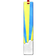 Sunlight Clouds Blue Sky Yellow White Large Book Marks