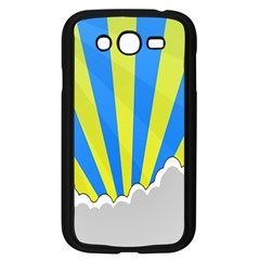 Sunlight Clouds Blue Sky Yellow White Samsung Galaxy Grand DUOS I9082 Case (Black)