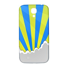 Sunlight Clouds Blue Sky Yellow White Samsung Galaxy S4 I9500/I9505  Hardshell Back Case