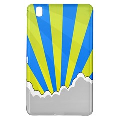 Sunlight Clouds Blue Sky Yellow White Samsung Galaxy Tab Pro 8.4 Hardshell Case