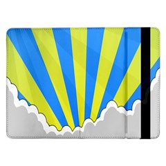 Sunlight Clouds Blue Sky Yellow White Samsung Galaxy Tab Pro 12.2  Flip Case