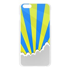 Sunlight Clouds Blue Sky Yellow White Apple Seamless iPhone 6 Plus/6S Plus Case (Transparent)