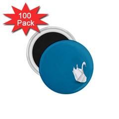 Swan Animals Swim Blue Water 1 75  Magnets (100 Pack)