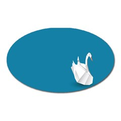 Swan Animals Swim Blue Water Oval Magnet