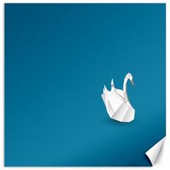 Swan Animals Swim Blue Water Canvas 20  x 20