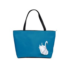 Swan Animals Swim Blue Water Shoulder Handbags