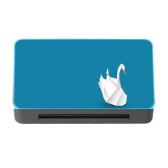 Swan Animals Swim Blue Water Memory Card Reader with CF