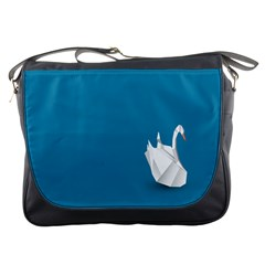 Swan Animals Swim Blue Water Messenger Bags
