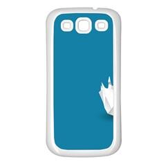 Swan Animals Swim Blue Water Samsung Galaxy S3 Back Case (White)