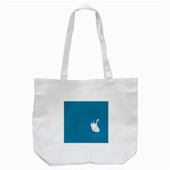 Swan Animals Swim Blue Water Tote Bag (White)