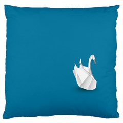 Swan Animals Swim Blue Water Standard Flano Cushion Case (Two Sides)