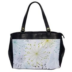 Retro Floral Flower Seamless Gold Blue Brown Office Handbags