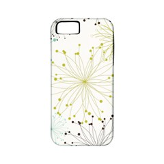 Retro Floral Flower Seamless Gold Blue Brown Apple iPhone 5 Classic Hardshell Case (PC+Silicone)