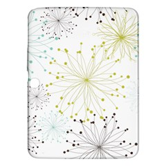 Retro Floral Flower Seamless Gold Blue Brown Samsung Galaxy Tab 3 (10.1 ) P5200 Hardshell Case