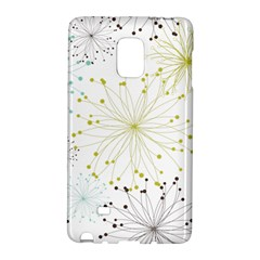 Retro Floral Flower Seamless Gold Blue Brown Galaxy Note Edge