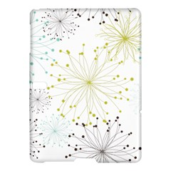Retro Floral Flower Seamless Gold Blue Brown Samsung Galaxy Tab S (10 5 ) Hardshell Case