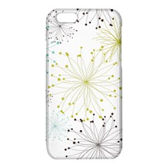Retro Floral Flower Seamless Gold Blue Brown iPhone 6/6S TPU Case